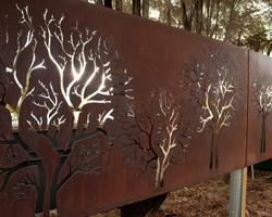 Заборная секция «Деревья»