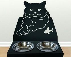 """Подставка для миски """"Чеширский кот"""""""