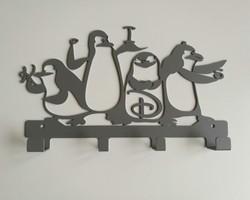 Настенная вешалка «Пингвины»